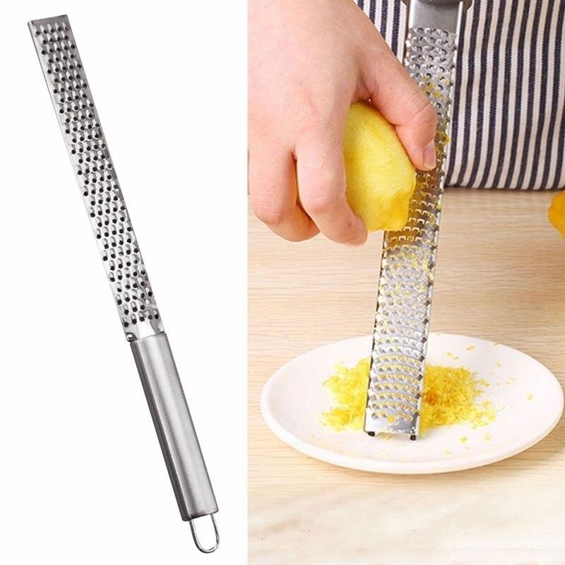 Neue Edelstahl Zitrone Käse Gemüse Zester Reibe Schäler Küche Werkzeug Gadgets Obst Gemüse Chopper