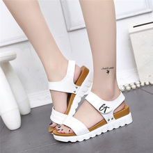 HOT Summer Gladiator Sandals Women Aged Leather Flat Fashion