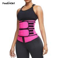 FeelinGirl неопреновый тренажер для талии, формирователь тела для похудения, пояс для талии, корсет для женщин, корректирующий пояс, моделирующи...
