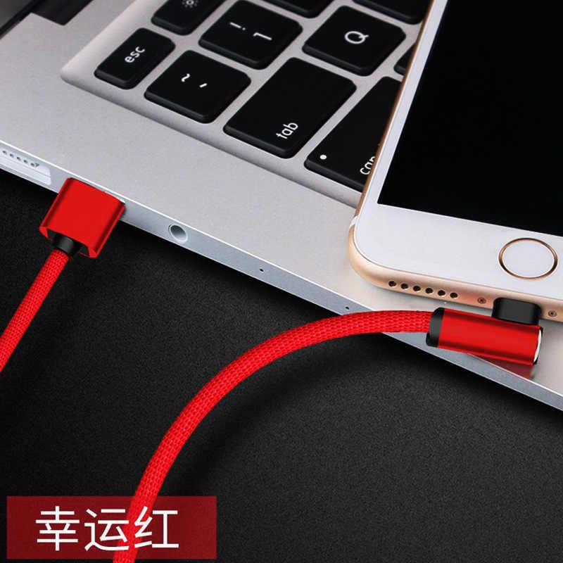Bozhu 90 Gradi USB Cavo del Caricatore di Dati Veloce per il iphone X XR XS iPad per xiaomi HUAWEI Telefono Origine lungo carica di cavo di 1m