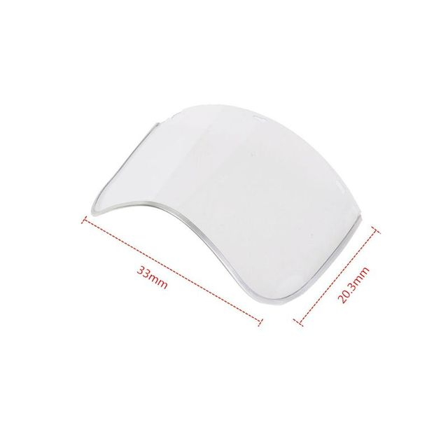 Anti-Saliva Dustproof MaskTransparent PVC Safety Faces Shields Screen Spare Visors Head Face Respiratory tract Protectio 5
