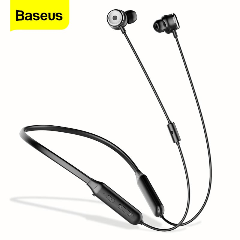 Baseus S15 Active Noise Cancelling Bluetooth Earphone Headset ANC Sport Neckband Wireless Headphones With Mic For iPhone Samsung|Bluetooth Earphones & Headphones|   - AliExpress