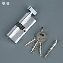 Алюминиевый ключ цилиндр сердцевина дверного замка Домашняя безопасность анти оснастка с 3 ключами кабина крючки оптом пакеты крючок карабина Защелка двери