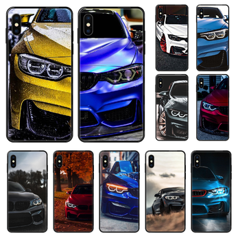 Blue Red Car for Bmw Phone case For iphone 4 4s 5 5S SE 5C 6 6S 7 8 plus X XS XR 11 PRO MAX 2020 black silicone waterproof tpu image