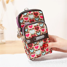 Women Wallet Hanging Neck Coin Canvas Card Package Floral Zipper Holders Clutch Purse Lady new women wallet canvas coin purse travel organizer 8 color floral women storage bag day clutch card holders women purse h21