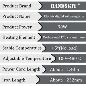 Image 4 - Kit per saldatore Handskit 90w kit per saldatore a temperatura regolabile digitale con punte per saldatura strumenti per saldatura con pompa dissaldante