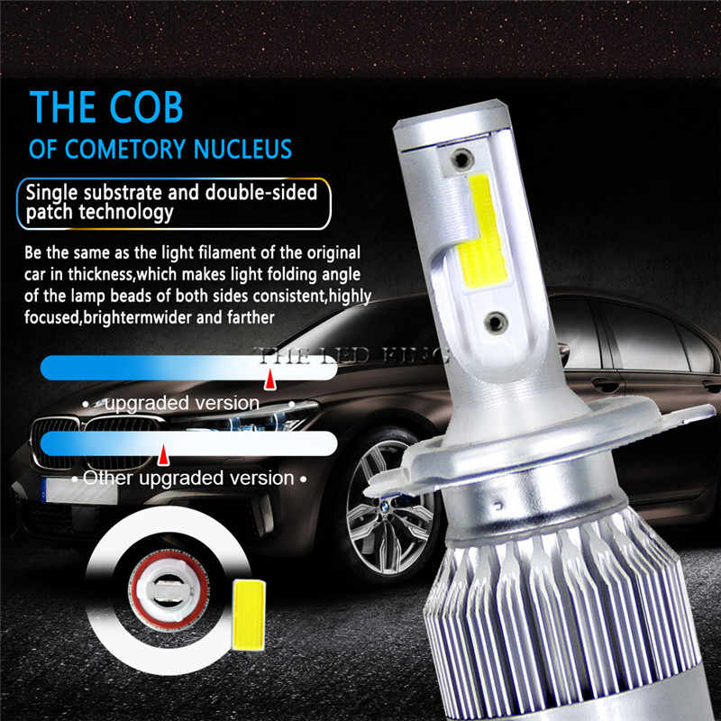 2 PCS 36W 8000LM 6500K H4 H1 H3 טורבו LED רכב פנס H7 H8 H9 H11 H27/ 880/881 9005 HB3 9006 HB4 9007 Led ערפל אור הנורה
