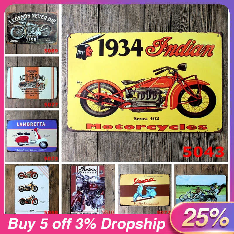 New European And American Retro Metal Painting Hanging Metal Poster Bus Motorcycle Car Metal License Home Decoration Gift
