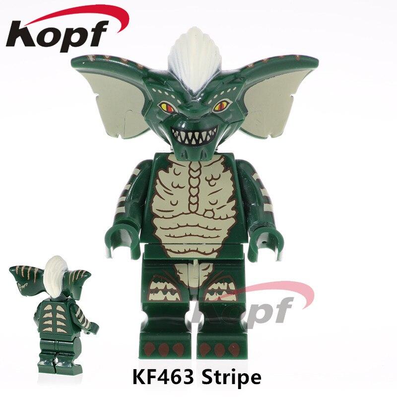 Single Sale LEGOED Cartoon Green Gremlins Figures Super Heroes Stripe Gizmo Dimensions Building Blocks Children Gift Toys KF463
