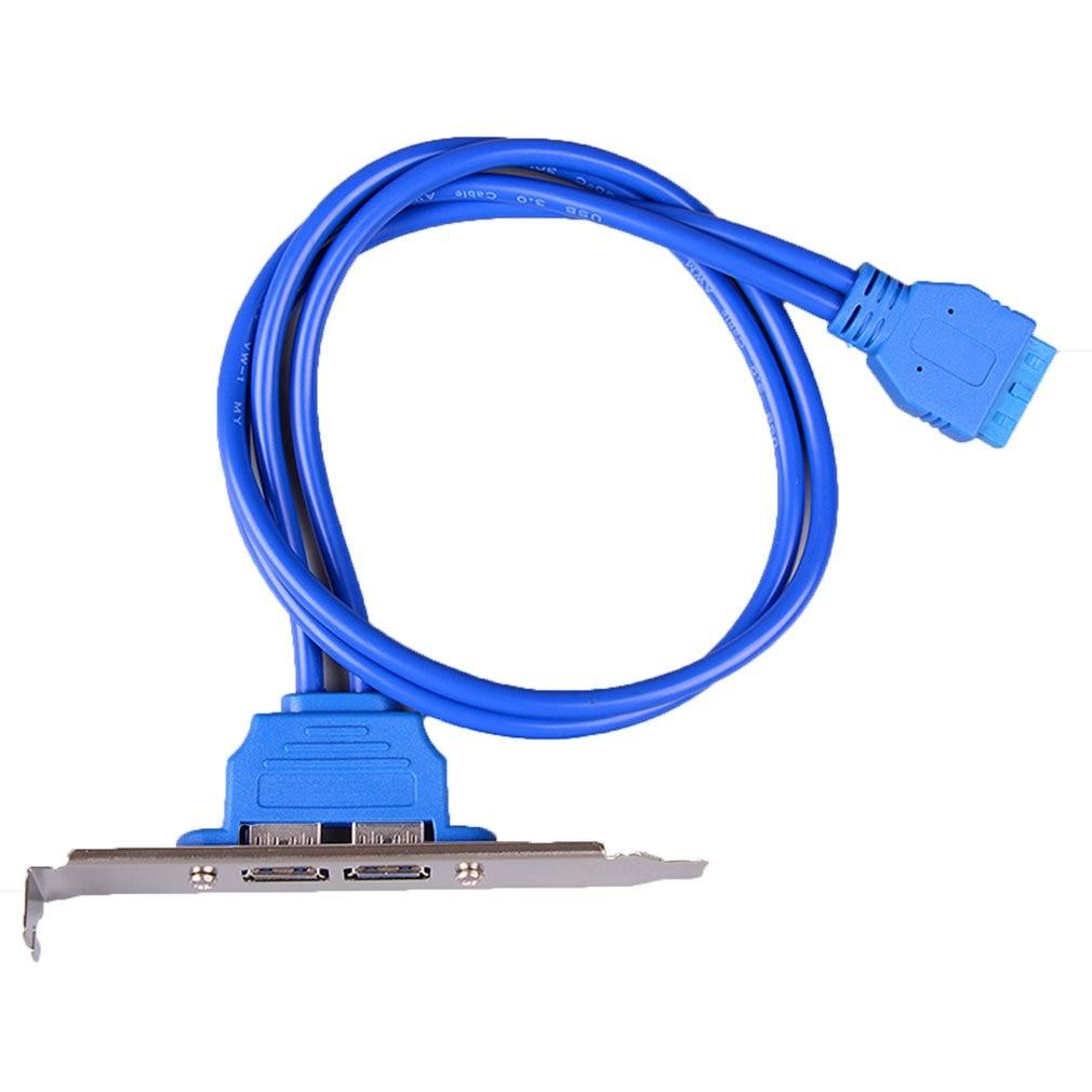 Высокая скорость USB 3,0 задняя панель расширительный кронштейн для 20 контактный кабель (2 портовый) Материнская плата для ПК| |   | АлиЭкспресс
