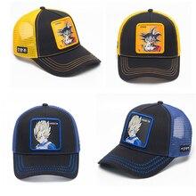 Anime breathable baseball caps women summer snapback hat men fashion hip hop dad hats unisex casual trucker cap bone feminino цена