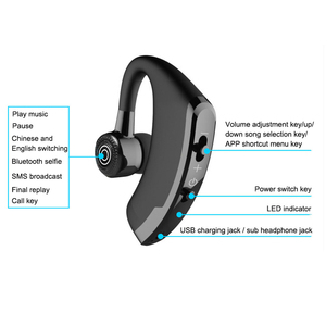 Image 4 - Bluetooth Earphone Wireless Headphone Handsfree Headset Earbud With HD Microphone For Driver Sport Phone iPhone Samsung xiaomi