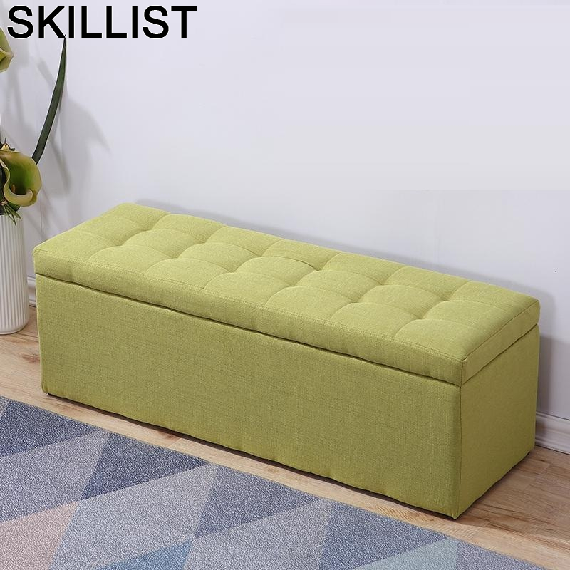 Moderno Escalera De Aluminio Pouffe Footstool Plegable Sofa Madeira Poef Taburete Change Shoes Kids Furniture Storage Chair