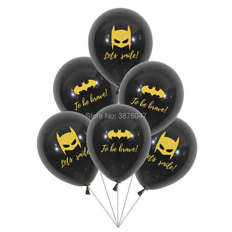 12 sztuk/partia batman balony chłopiec dzieci superbohater motyw dekoracje na imprezę urodzinową z okazji urodzin nadruk batmana przyjęcie balon piłka