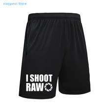 Novo estilo de verão eu tiro cru famale esportes shorts engraçado fotógrafo praia calças presente feminino casual moletom topo-284