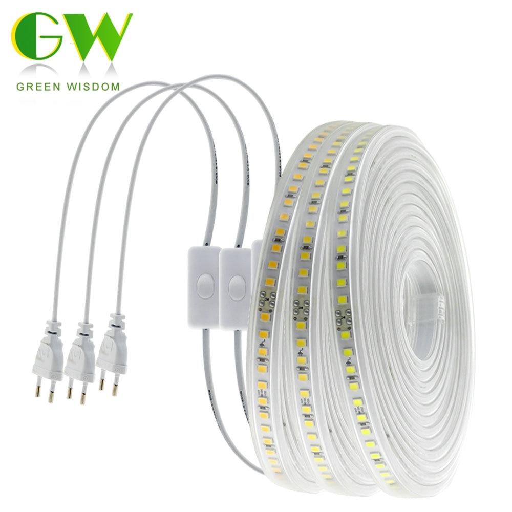 High Quality LED Strip 220V New 4040 Chip Super Brightness Flexible Diode Tape 120LEDs/m High Safety Waterproof LED Strip Light