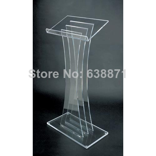 Free Shiping High Quality Premium Floor Standing Acrylic Desktop Lectern Cheap Acrylic Lectern