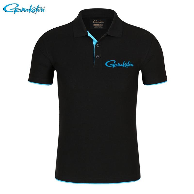 Gamakatsu Tshirt Brand Fishing Polo Tee Quick Dry Breathable Outdoor Sport Men Clothing Fishing Short Sleeve Top Fishing T Shirt