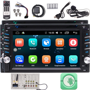 Android Car Navigation Stereo Bluetooth Double din Car Radio in Dash Car DVD Player 2 din GPS Wifi USB SD 1080P Colorful Button pumpkin 2 din 6 2 android 7 1 universal car dvd player gps navigation quad core car stereo fm rds radio wifi dab 3g headunit