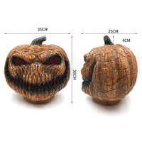 Plastic Pumpkin with LED Light for Harvest Home and Garden Halloween Decorations new