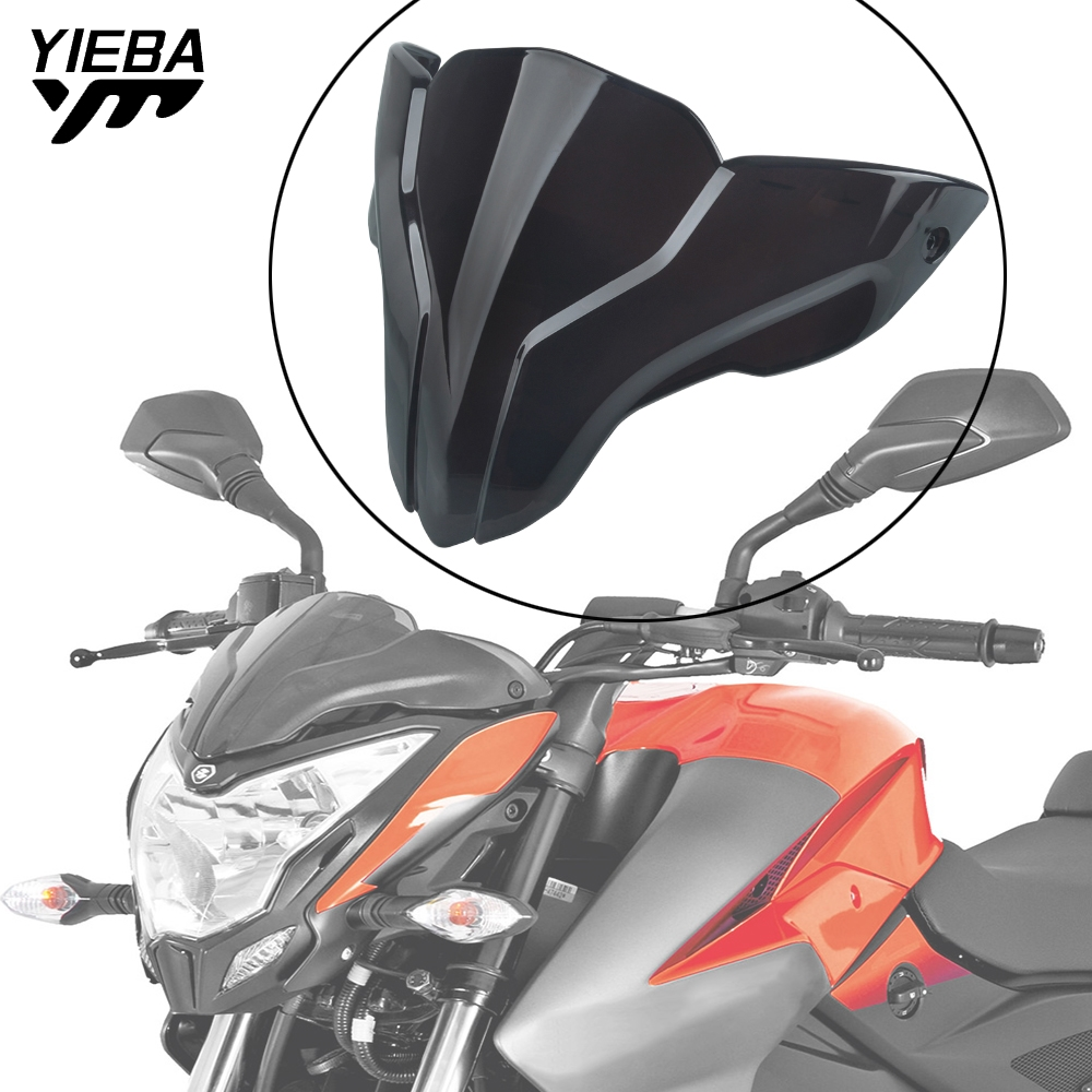 Motorcycle Accessories Plastic Moto Windshield Windscreen Air Deflector For <font><b>BAJAJ</b></font> <font><b>Pulsar</b></font> NS200 <font><b>NS</b></font> <font><b>200</b></font> 200NS image