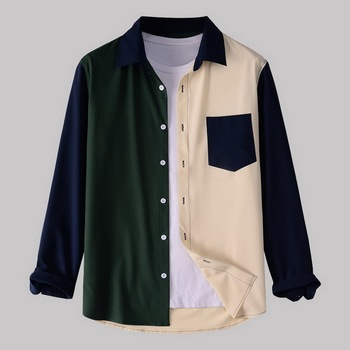 Camisas New Corduroy Men Shirt Oversize Flannel Cardigan Spring Autumn Fashion Shirts Men Turndown New Casual Tops Joker image