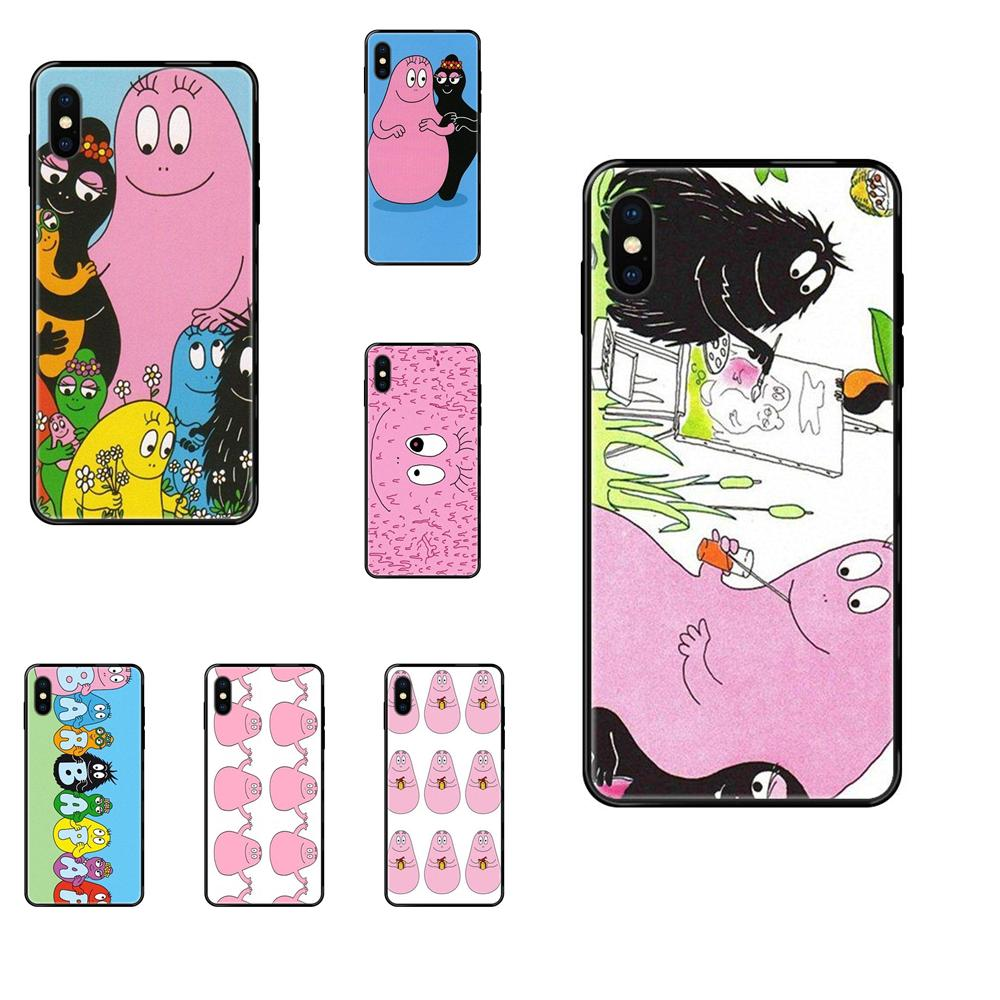 Back Phone Case Japan Cute Tumbler Fat Baby Barbapapa For Apple iPhone 11 12 Pro 5 5S SE 5C 6 6S 7 8 X 10 XR XS Plus Max