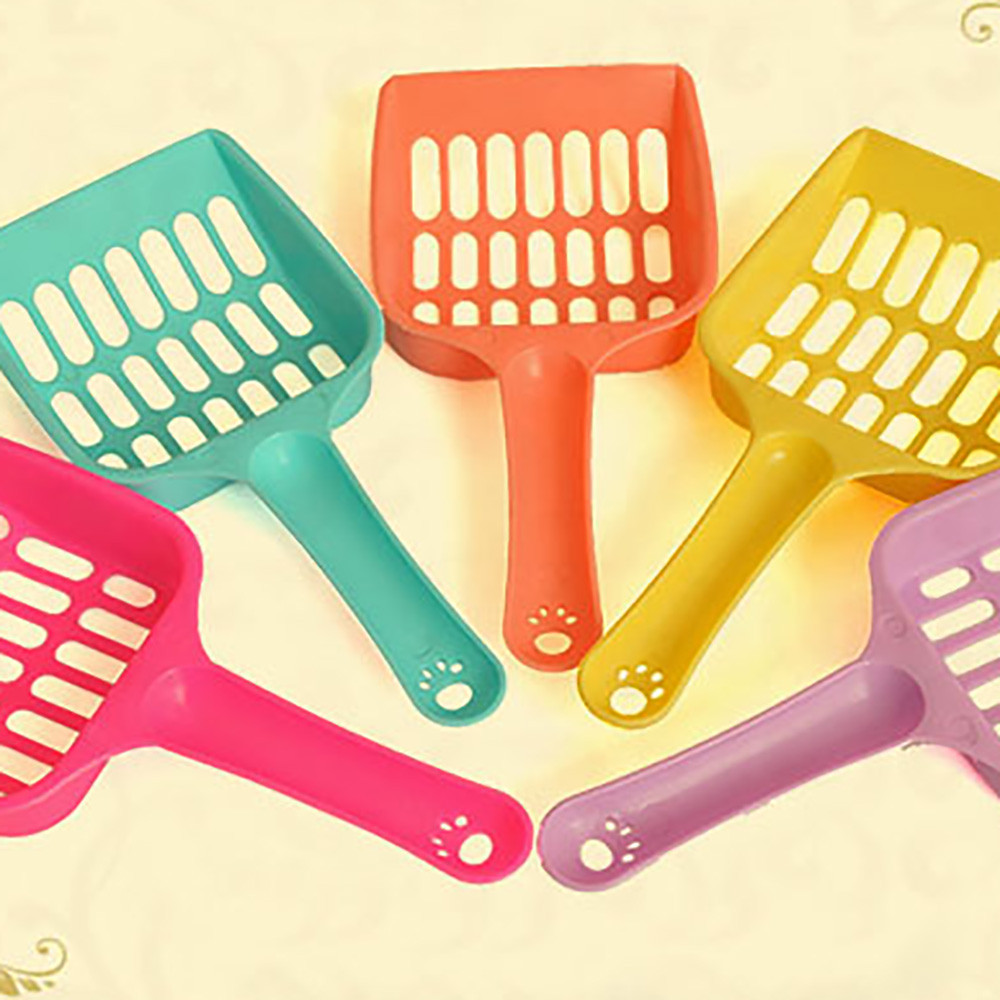 Cat Plastic Pet Shovel Sand Scoop Waste Dog Puppy Litter Hollow Out Food Spoons Sell Like Hot Cakes