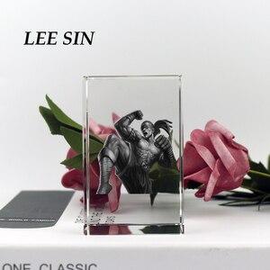 Image 5 - Figurine de la ligue de cristal des légendes populaires et gravure au Laser bloc de Souvenirs personnalisés pour cadeaux danniversaire