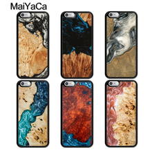 MaiYaCa Luxury Wood Resin Protective Phone Case For iphone 11 Pro MAX X XR XS MAX 6 6S 7 8 Plus 5 5S TPU Back Cover Fundas wood texture tempered glass phone case for iphone 11 pro max x xs max xr 7 8 6 6s plus soft protective luxury back cover fundas