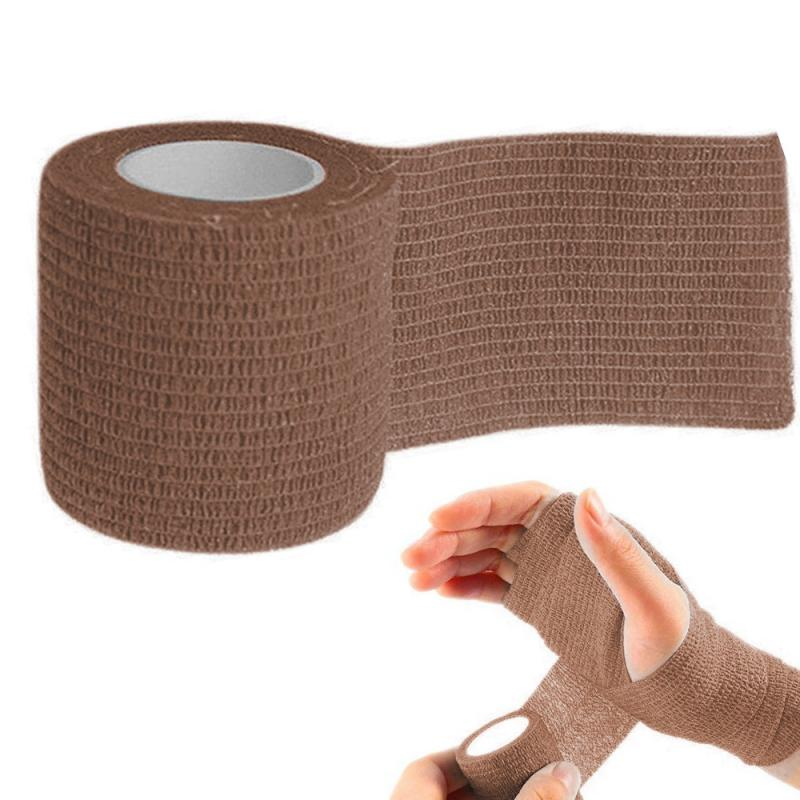 Security Protection Bandage Elastic Self Adhesive Tape Medical Pet Bandages Sports Injury Muscle Strain First Aid Kit 4.5m X 5cm