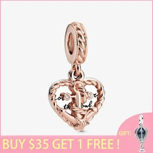 2020 Summer New S925 Sterling Silver Beads Rope Heart & Love Anchor Dangle Charms fit Original Pan's Bracelets Women Jewelry