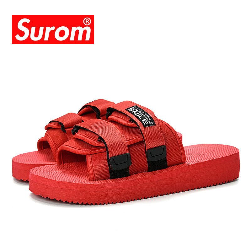 SUROM Summer Clearance Mens Slippers Thick Bottom Soft Comfort Outdoor Women Beach Shoes Classic White Unisex Casual Slides