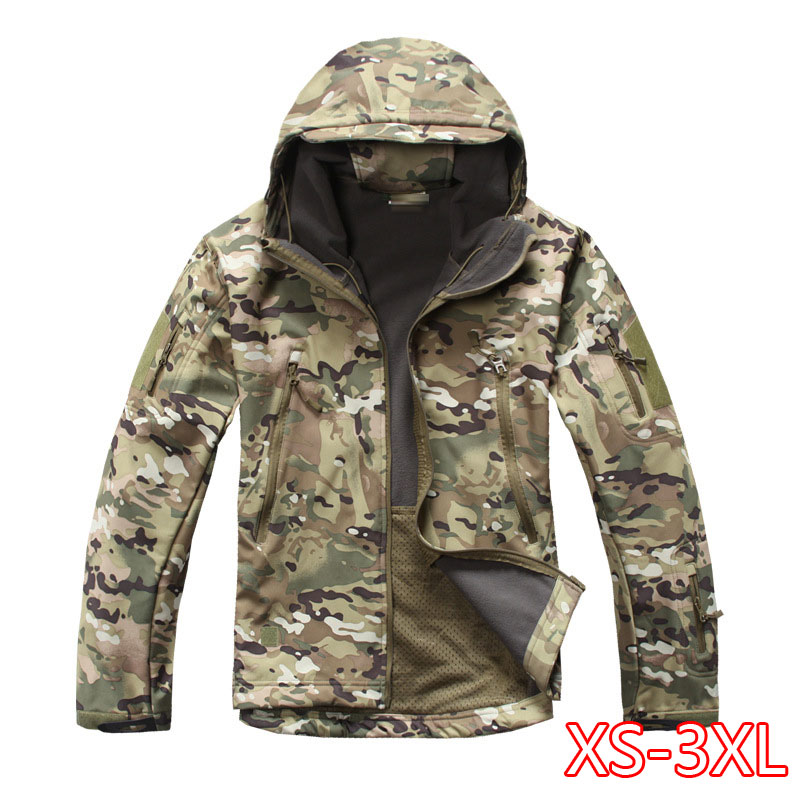 Tactical Softshell Camouflage Jacket Set Men Army Windbreaker Waterproof Hunting Clothes Set Military Jacket And Pants