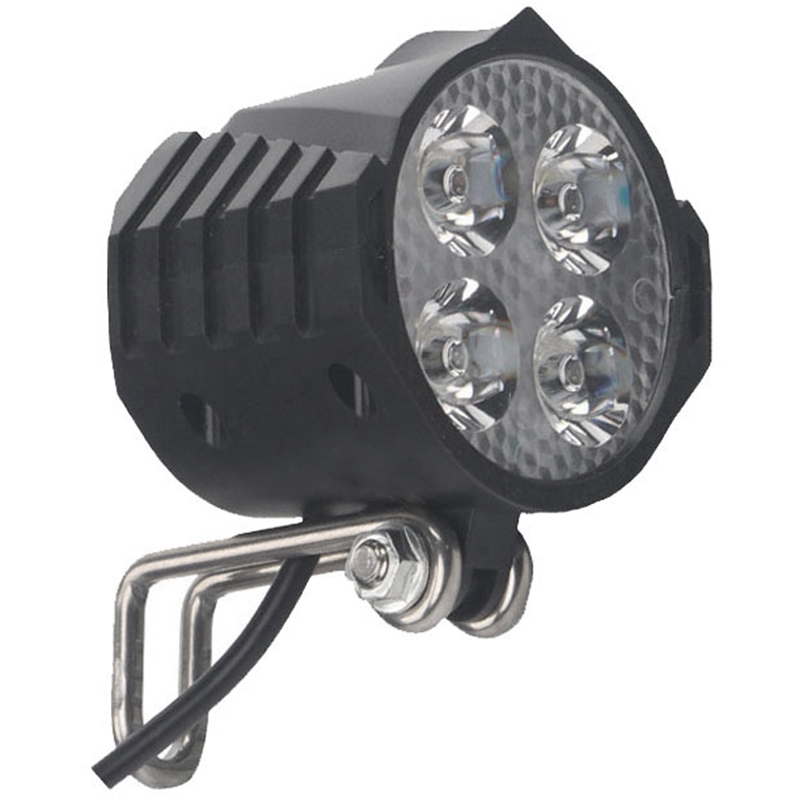 ABZB-Ebike E-Bike 12V 24V 36V 48V 60V 72V Electric Bicycle Light With Horn Waterproof High Quality Headlight Horn Set Front Head