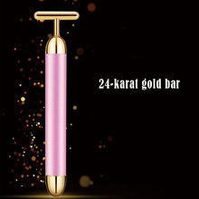 Slimming Face Roller 24k Gold Colour Vibration Facial Beauty Massager Stick Lift Skin Tightening Wrinkle Bar Tools