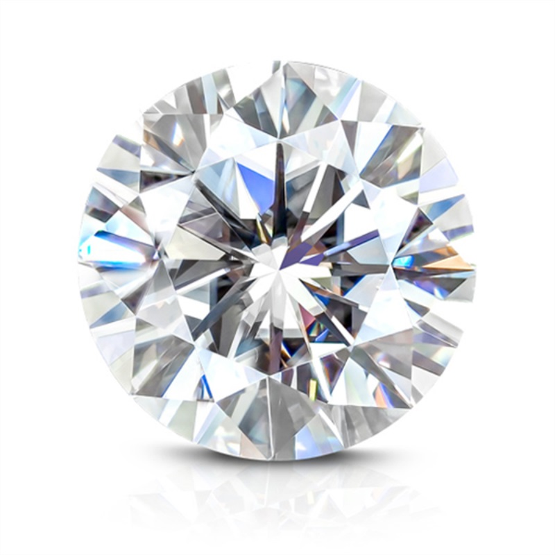 Test Positive Including Certificate Factory Price 0 4 ct 4 5 mm EF Color Brilliant Cut Like Charles Colvard Moissanite Diamond in Loose Diamonds Gemstones from Jewelry Accessories