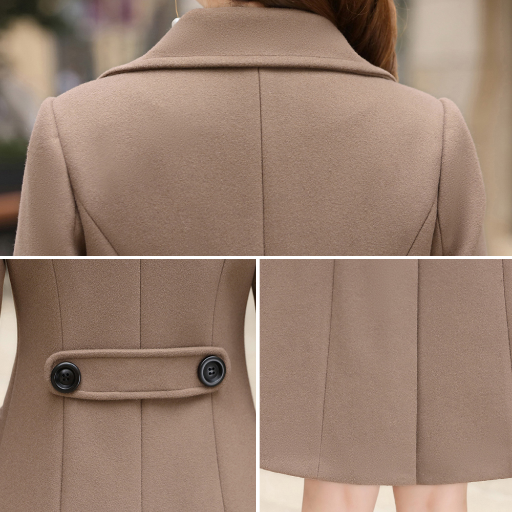 Woolen Women Jacket Coat Long Slim Blend Outerwear 2019 New Autumn Winter Wear Overcoat Female Ladies Wool Coats Jacket Clothes 5