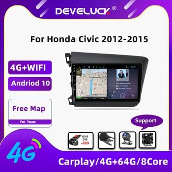 Фото - Android 10.0  Car Radio For Honda Civic 2012-2015 2 Din 4G+64G RDS DSP+48EQ 4G Net WIFI GPS Navigation Multimedia Video Player vtopek 9 4g wifi dsp 2din android 10 0 car radio multimedia player navigation gps for honda crv cr v 2006 2012 head unit 2 din