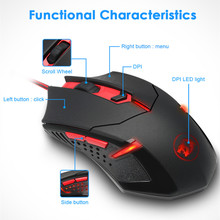 Redragon M601 Mouse gamer Wired In Mice Gaming 6 Button 3200 DPI LED optical USB wired mouse Use for computer