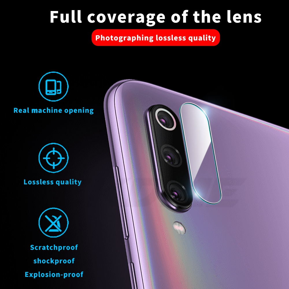 9D Camera Screen Lens Flim For Xiaomi Mi 9 SE CC9 Mi 9 Pro Mi 8 Mi5X Phone Camera Protector Film For Xiaomi Mi6X MiA3 Lite CC9E