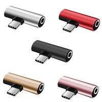 1pc 2in1 USB Typ C Zu 3,5mm Jack Audio Splitter Kopfhörer Lade Adapter USB-C Zu 3,5 AUX Audio für Handy