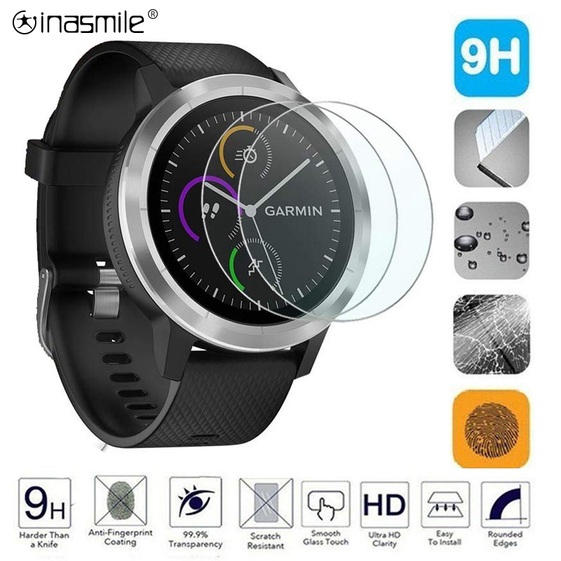 9H 3PCS Tempered Glass For Garmin Fenix 5 5s Screen Protector For Vivosport Vivoactive HR 3 Approach S60 S6  Accessories Glass