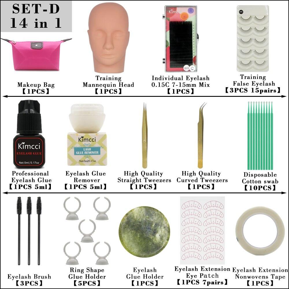 Image 5 - False Eyelashes Extension Practice Exercise Kit Training Mannequin Head Set Grafting Eyelash Tools Kit Practice Eye Lashes GraftFalse Eyelashes   -