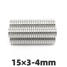 AGMA 10pcs 15x3mm Hole 4mm Super strong round countersunk magnets N35 permanent neodymium magnet 15*3-4mm 50pcs pack dia 12 4mm hole 3mm strong neodymium magnet round n50