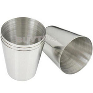 Glass-Cup Drinking-Glasses Stainless-Steel Wine Shot Mini for Home Kitchen Bar 1pc 35ml
