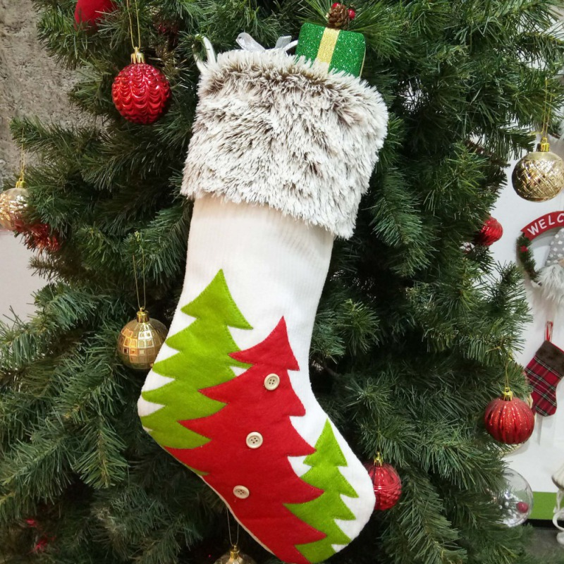 Creative Christmas Stockings Candy Socks Gifts Bag With Hanging Loops Xmas Tree Fireplace Seasonal Decorations 2019 in Stockings Gift Holders from Home Garden
