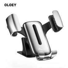 Aluminum alloy Gravity Car Holder For Phone in Car Air Vent Clip Mount No Magnetic Mobile Phone Holder GPS Stand For iPhone XS цена