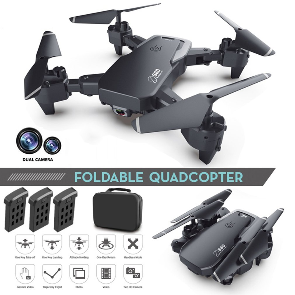 S60 Remote Control Drone Hd Aerial Photography Professional Four-axis Aircraft Folding Aircraft Model Aircraft Toy