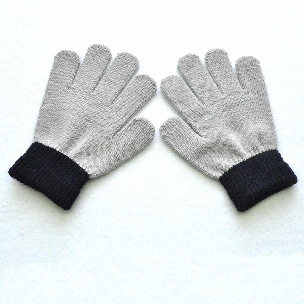 Guantes de bebé invierno para niños y niñas, guantes de punto, guantes con dedos completos para chicos, niños, bebés, recién llegados 19Oct